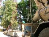 Úszómedence oldalfal betonozása